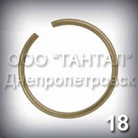 Бронзове кільце зовнішнє 18 DIN 7993 A спецтолщина стопорне пружинне круглого перерізу