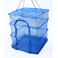 Складная сетка сушилка 50х50см для сушки рыби, грибов и фруктов