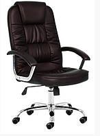 Офисное кресло материал EKO-кожа темно коричневый цвет