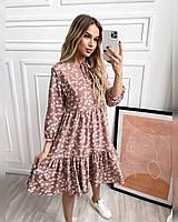 Женское платье с рюшами, фото 1