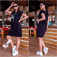 Молодіжне полубатальное плаття-футболка. 3 кольори!, фото 1