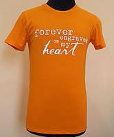 Мужская футболка из стрейч- кулира оранжевая