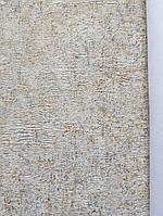 Обои метровые виниловые на флизелине Grandeco ATB однотонные под ткань гобелен золотистые с синим