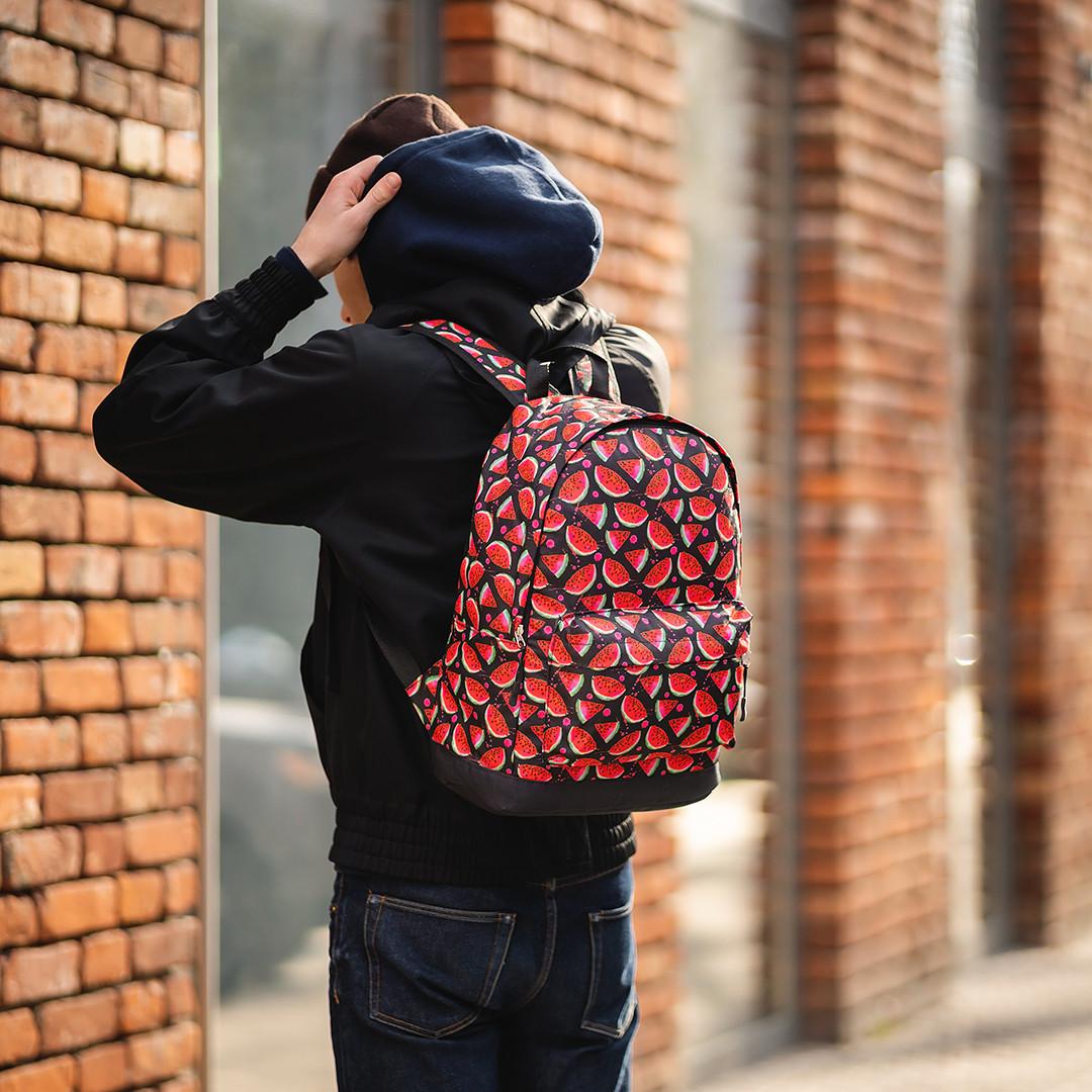 Стильный принтованый рюкзак, молодежный, городской, яркий рюкзак.