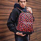 Стильный принтованый рюкзак, молодежный, городской, яркий рюкзак., фото 2