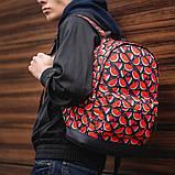 Стильный принтованый рюкзак, молодежный, городской, яркий рюкзак., фото 3