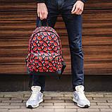 Стильный принтованый рюкзак, молодежный, городской, яркий рюкзак., фото 4