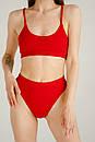 Женский купальник топ рубчик красный, фото 2