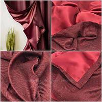 Ткань блэкаут  лен  бордо