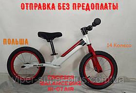 ⭐✅Дитячий беговел Crosser BALANCE bike JK-07 (AIR) 14 дюймів Білий