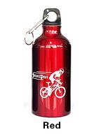 Фляга велосипедная алюминиевая SeortPot (красная) 500мл