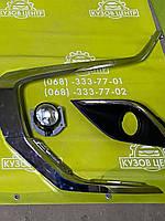 Страйп переднего бампера нижний левый Mitsubishi Outlander 2016- (6407A143)