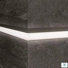 Алюминиевый профиль LQL/2 декоративная вставка для крупногабаритных плит с Led подсветкой 10х59,6х2800мм.