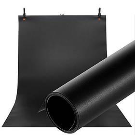 Фотофон виниловый (фон для фото предметной съемки, черный 120×200 см, ПВХ)