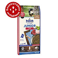 Bosch Junior Lamb & Rice 15кг для цуценят з чутливим травленням