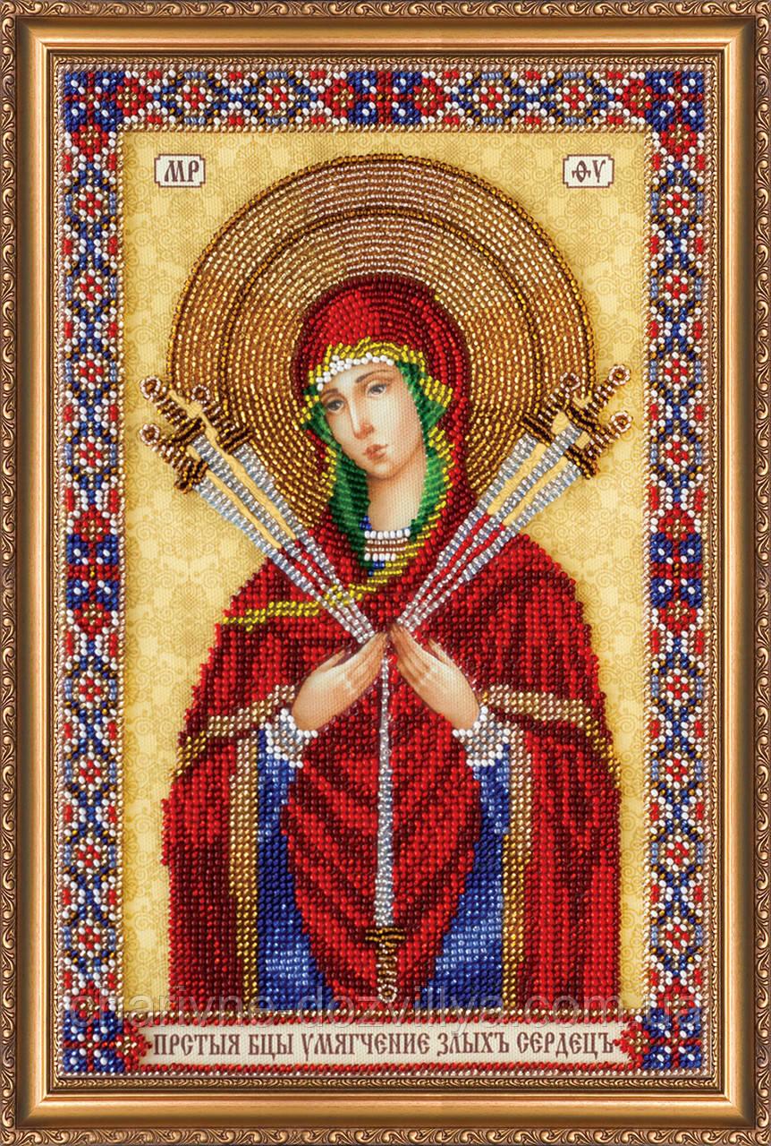"""Набор для вышивания бисером икона """"Богородица Семистрельная"""""""