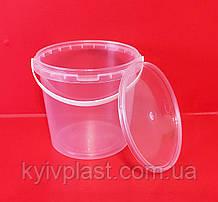 Відро пластикове харчове 1 л СТ прозоре