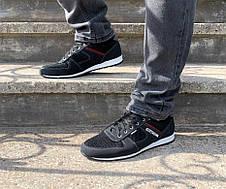 Чоловічі кросівки літні чорні, фото 3
