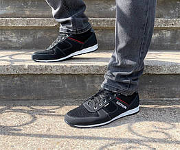 Мужские кроссовки летние черные
