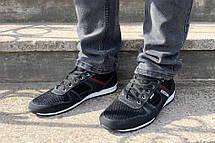 Чоловічі кросівки літні чорні, фото 2