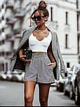 Стильний костюм жіночий з шортами, фото 2