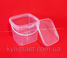 Відро пластикове 1л квадратне
