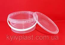 Ведро пластиковое пищевое 3 л прозрачное низкое