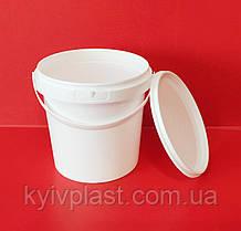 Ведро пластиковое пищевое 1 л белое