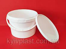 Ведро пластиковое пищевое 3 л белое