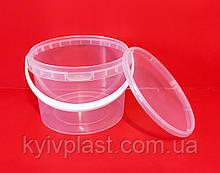 Відро пластикове харчове 3л прозоре