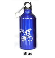 Фляга велосипедная алюминиевая SeortPot (синяя) 500мл