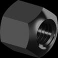 Гайка Высокая Шестигранная Высокопрочная М10 10 БП DIN6330