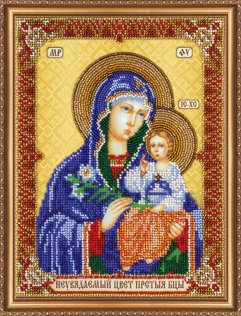 """Набор для вышивания бисером икона """"Богородица Неувядаемый цвет"""""""