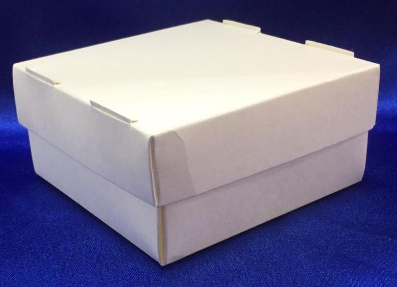 Паперовий Контейнер для їжі на винос  білий + кришка