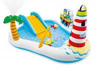 Детский надувной бассейн, с горкой, Intex