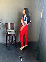 Жіночий брючний костюм з брюками і блузкою в кольорах (Норма), фото 9