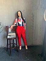 Жіночий брючний костюм з брюками і блузкою в кольорах (Норма), фото 10