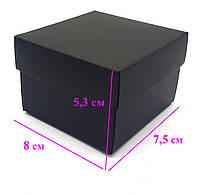 Подарочная коробка, под часы, без подушки, цвет черный