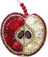 """БП-188 Набор для изготовления броши Crystal Art """"Красное яблоко"""" , Код товара: 1065526"""