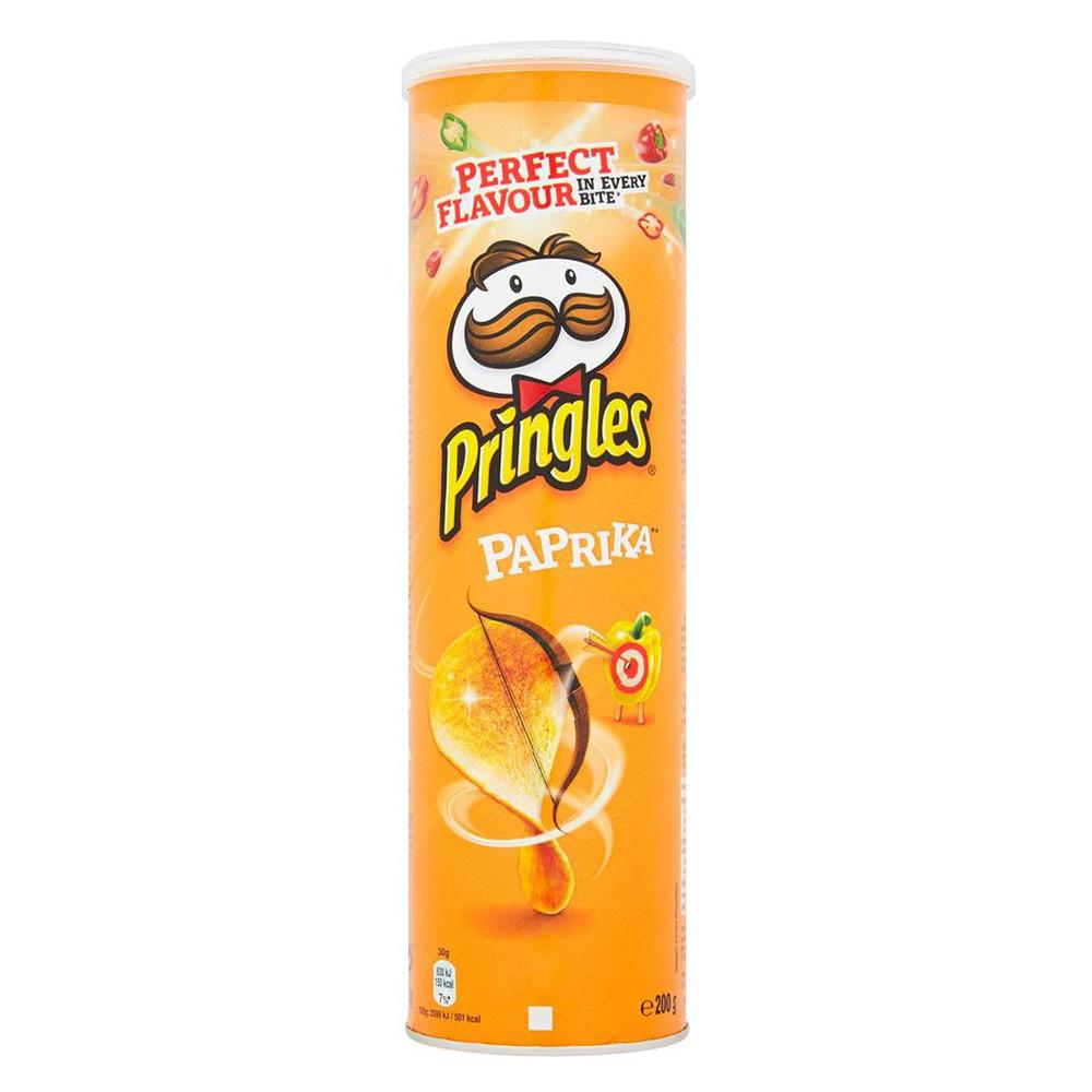 Чіпси Pringles Paprika, паприка, 200г, 19 шт/ящ