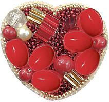 """БП-200 Набор для изготовления броши Crystal Art """"Сердце"""" , Код товара: 1065687"""