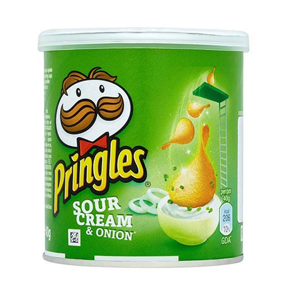 Чіпси Pringles Sourcream & Лук, сметана та цибуля, 40г, 12 шт/ящ