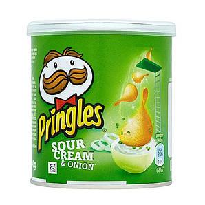 Чіпси Pringles Sourcream & Onion, сметана та цибуля, 40г, 12 шт/ящ