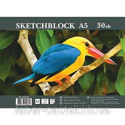 Альбом / скетчбук для эскизов Sketchblock А5 120 г/м2, 30 листов горизонтальный спираль, АА5430