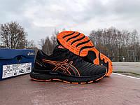 Мужские спортивные кроссовки Asics Gel-Nimbus 22 Black Orange черные с оранжевым