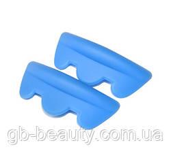 Бигуди из ЭКО силикона, синие, пара S