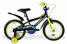 """Дитячий велосипед FORMULA FURY 16"""" (чорно-жовтий з сін.)"""