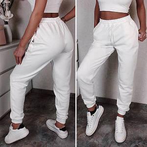 Белые спортивные штаны (Код MF-502)