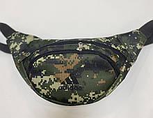Поясная сумка Бананка сумка на пояс тканевая камуфляж пиксель .