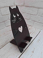 Підставка під телефон. Кіт з серцем